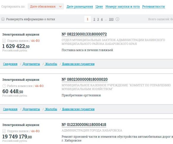 Раздел «Закупки у СМП, СОНО» на официальном сайте единой информационной системы в сфере закупок